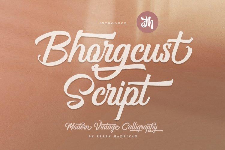 Bhorgcust - Script Font