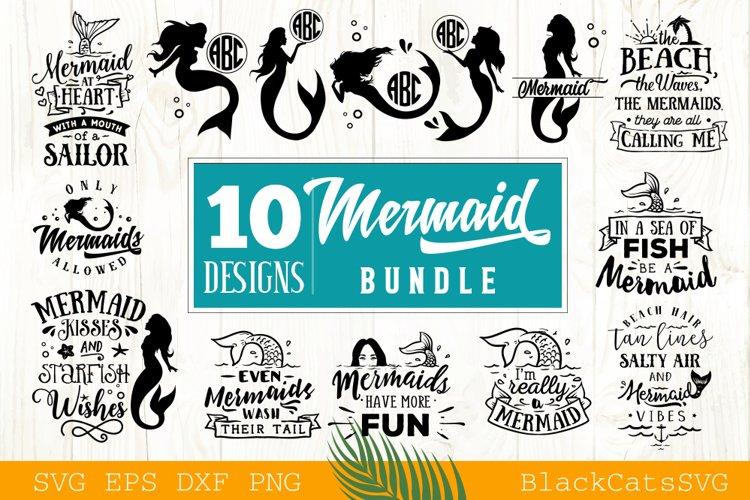 Mermaid SVG bundle 10 designs