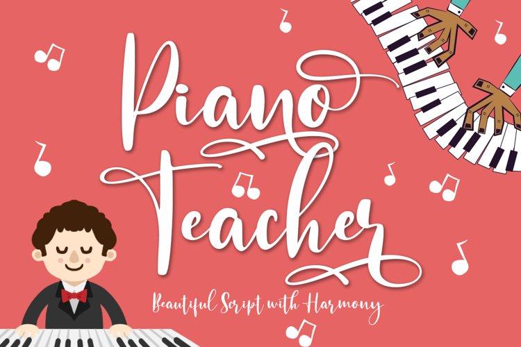 Piano Teacher Script With Harmony Feel example image 1