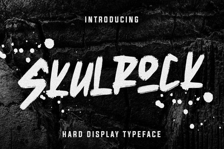 Skulrock Hard Display Typeface example image 1