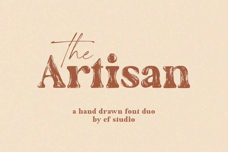 The Artisan | A Hand Drawn Font Duo example image 1