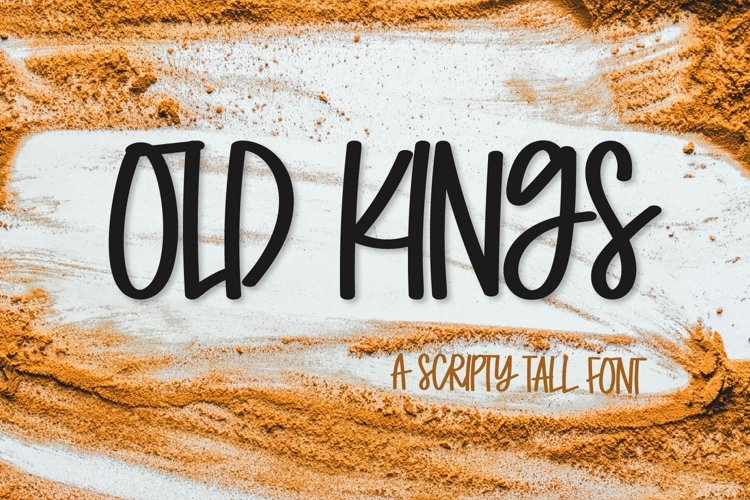 Old Kings - A Scripty Caps Font example image 1
