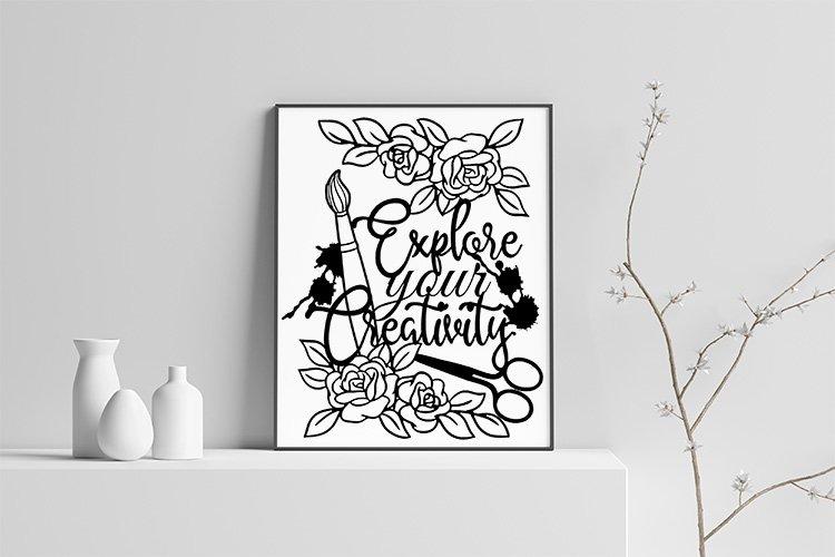 Explore Creativity paper cut and sublimation illustration