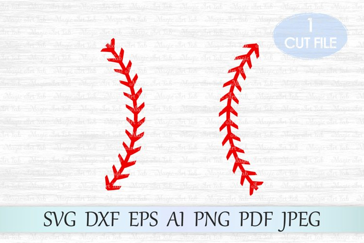 Baseball stitches svg, Baseball lace svg, Baseball svg file example image 1