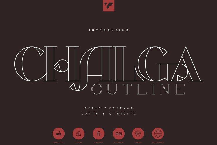 Chalga Outline - Serif Typeface example image 1