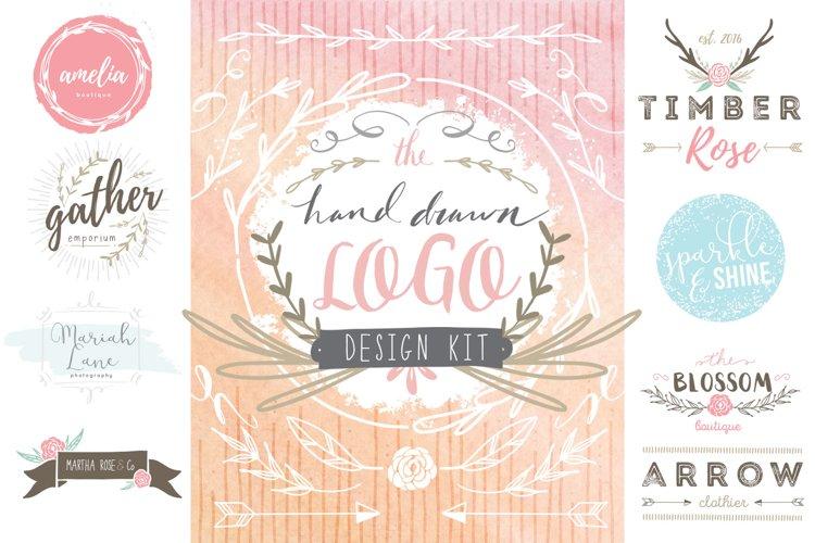 Hand Drawn Logo Design Kit example image 1