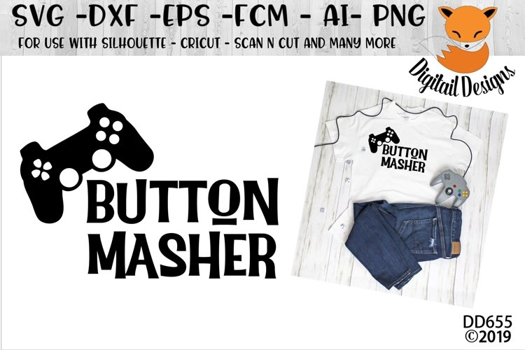 Video Gamer Button Masher SVG example image 1