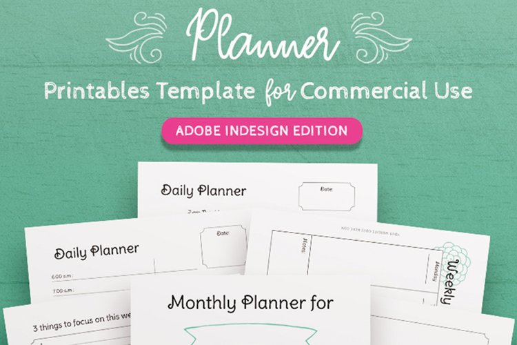 InDesign Planner Template for Commercial Use