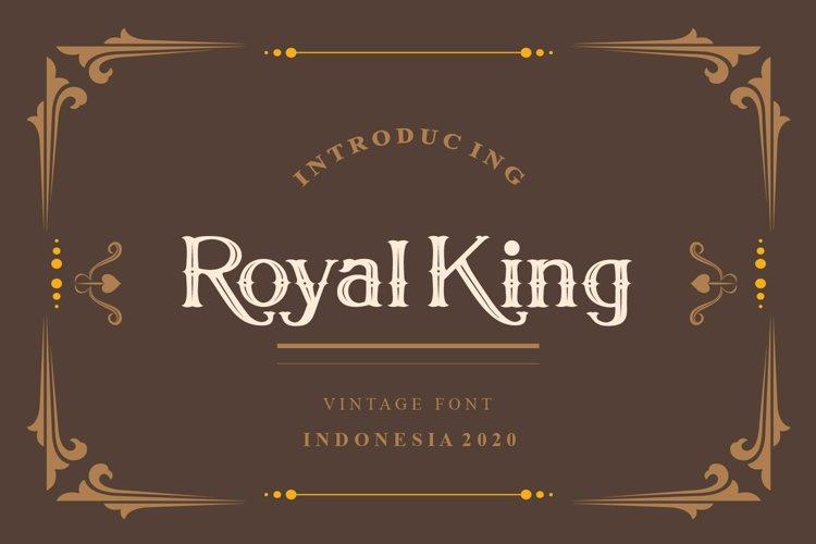 Royal King Vintage Serif Modern Font example image 1