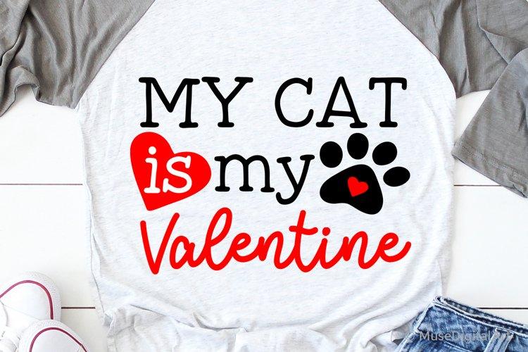 Download My Cat Is My Valentine Svg Cat Valentine Svg Valentine Day 449030 Svgs Design Bundles