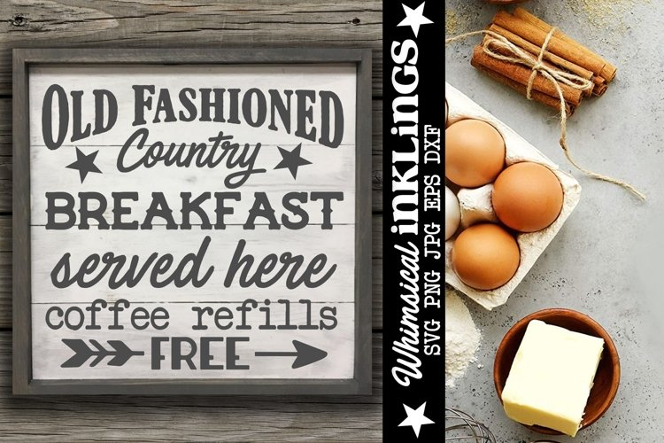 Old Fashioned Country Breakfast SVG example image 1