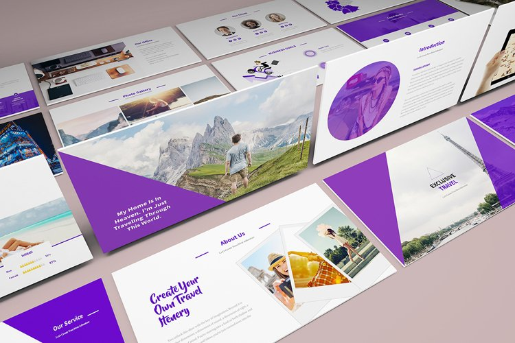 Travel Agency Keynote Template example image 1