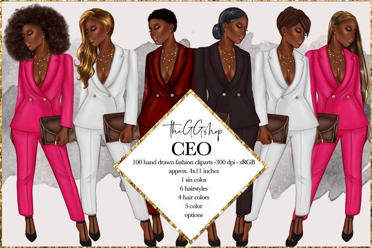 Fashion Girlboss Clipart