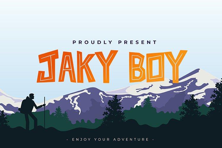 Jaky Boy Font example image 1