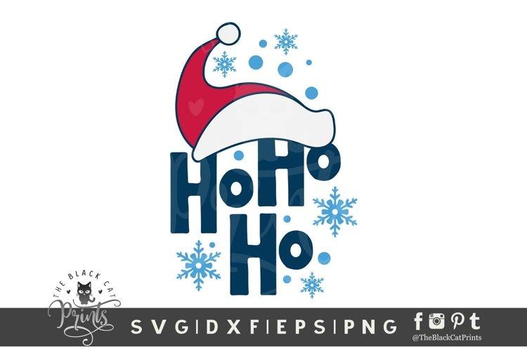 Ho Ho Ho SVG | Santa Hat SVG | Kids Christmas SVG Cut File