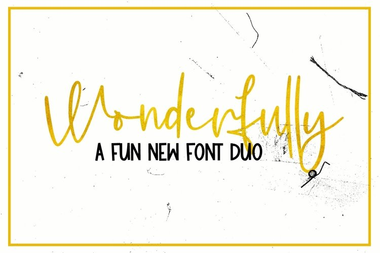 Wonderfully - A Fun New Font Duo example image 1