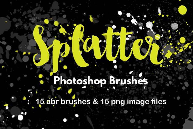 Watercolor Splatter Graffiti Paint Strokes Photoshop Brushes