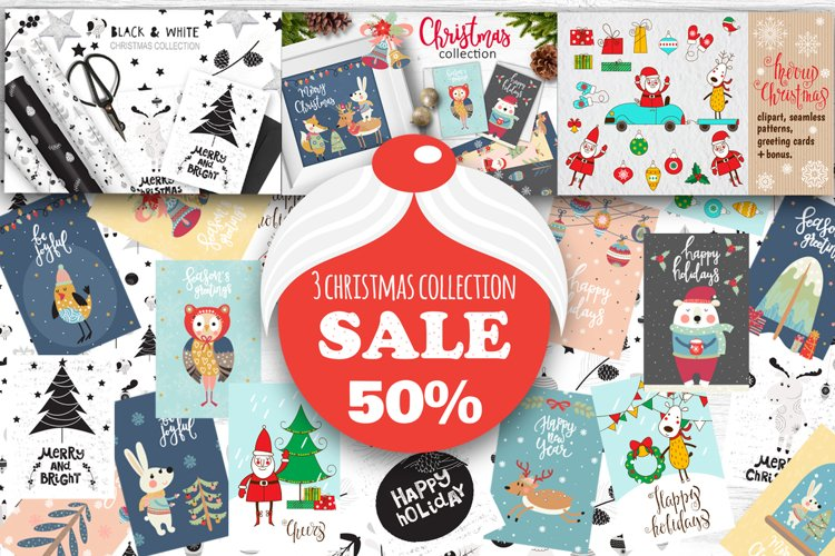 3 Christmas collection - sale 50% example image 1