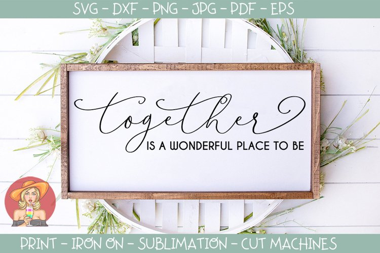 Wedding Love svg - Together is a wonderful place to be example image 1