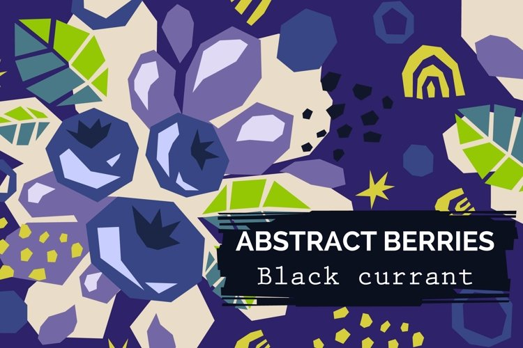 Black currant - Abstract patterns example image 1