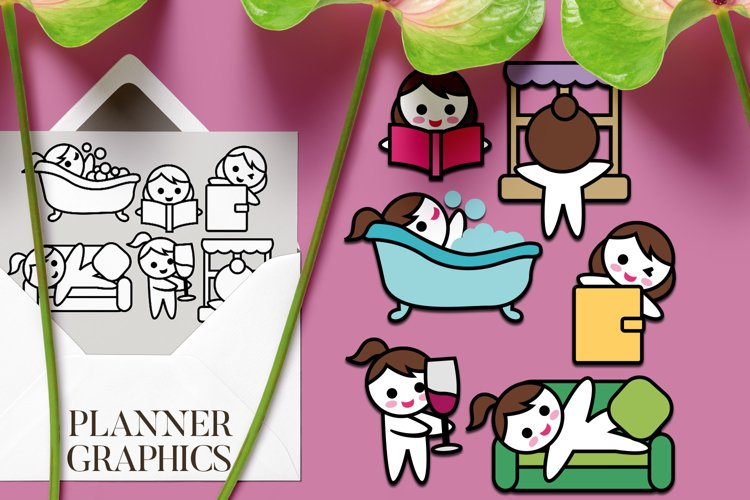 Planner girl me time graphics