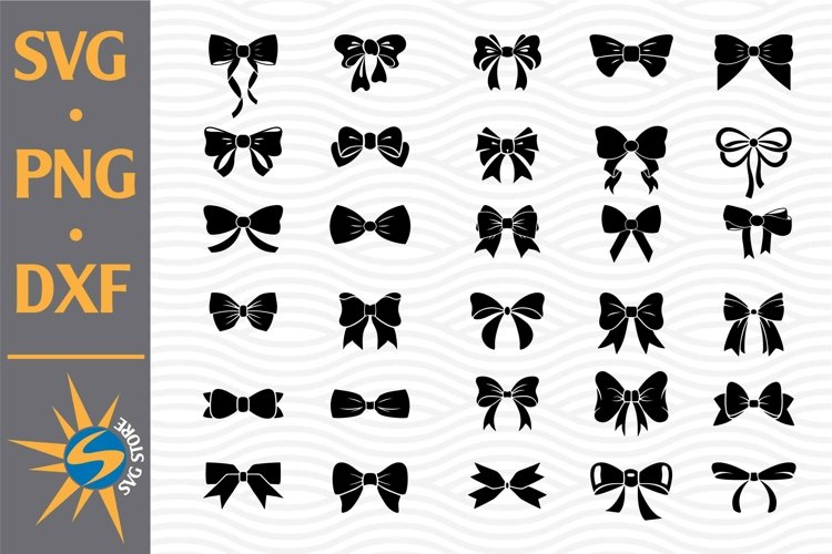 Bow Silhouette SVG, PNG, DXF Digital Files Include