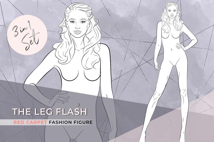 The Leg Flash| Elegant Fashion Figure 3 in 1 set