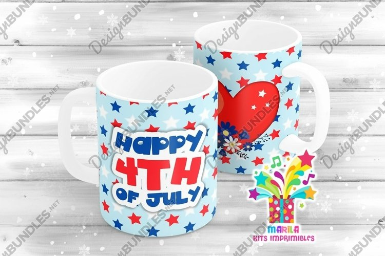 4th July Mug Sublimation Designs #5 example image 1