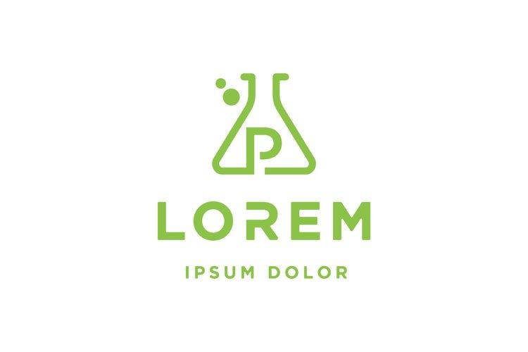 letter P Laboratory Logo vector illustration example image 1