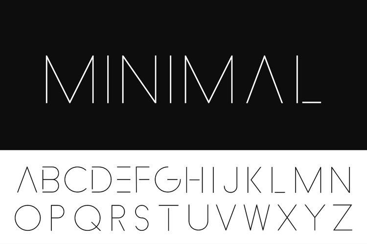 Minimalistic alphabet Thin design.