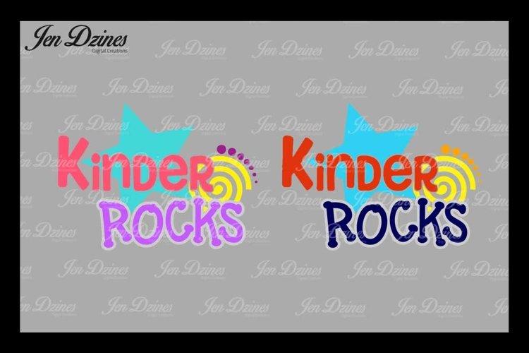 Kindergarten Rocks SVG DXF EPS PNG example image 1