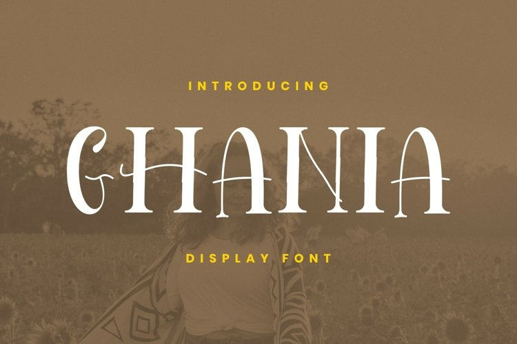 Ghania Font example image 1