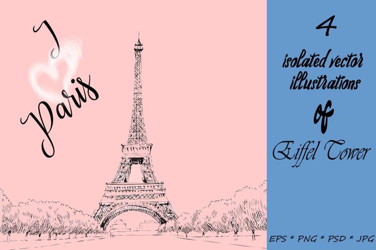 I love Paris. Vector example image 1