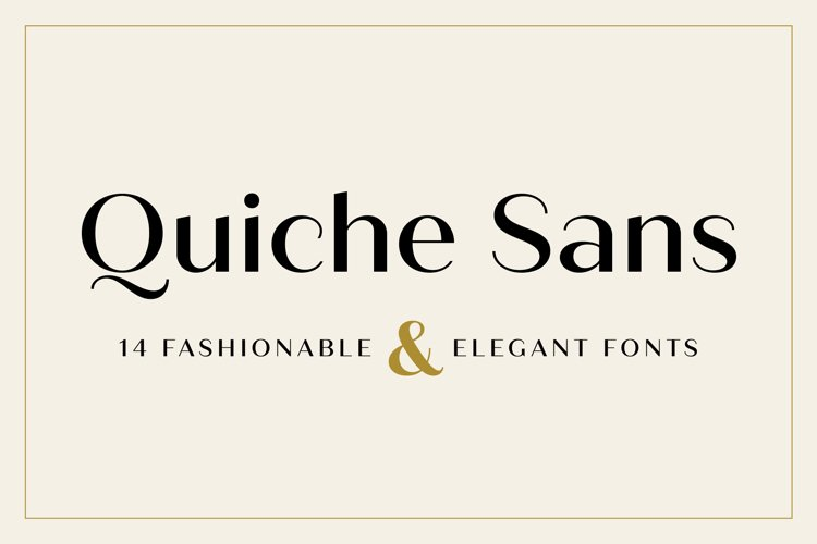 Quiche Sans Font Family