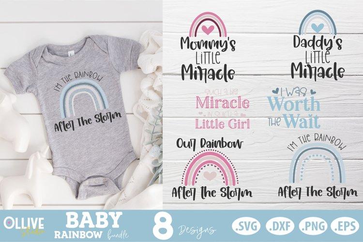 Baby Rainbow SVG Bundle  Baby Boho Rainbow SVG example image 1
