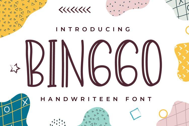 Binggo - Display Handwritten Font example image 1