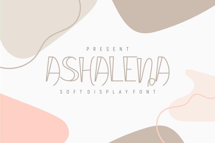 Ashalena - Soft Display Font example image 1