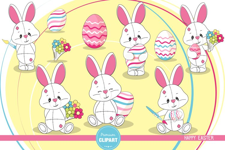 Easter bunny  illustrations, Easter graphics example image 1