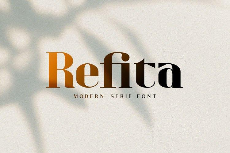 Refita. Modern Serif Font