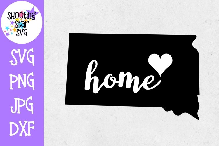 South Dakota Home State with Heart - 50 States SVG example image 1
