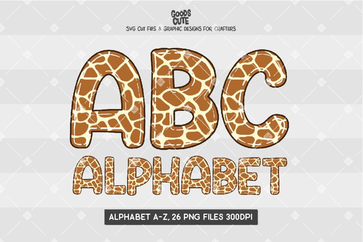 Giraffe Skin Doodle Alphabet - Sublimation PNG example image 1
