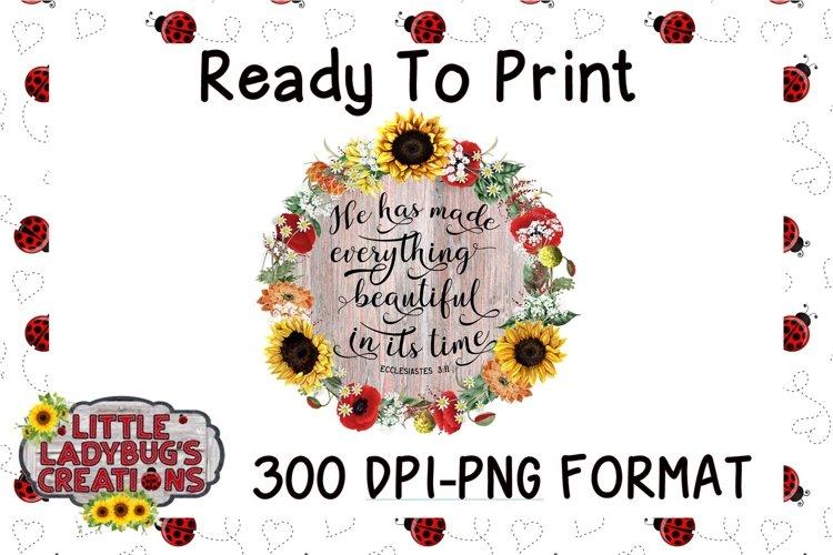In Its Time 300 DPI PNG Printable Digital Design
