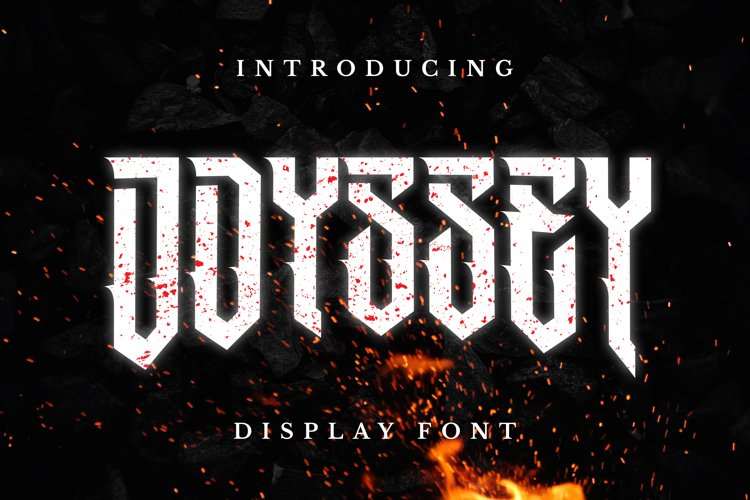 Odyssey Font example image 1