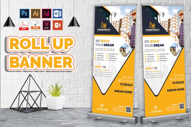 Construction Roll Up Banner Vol-10
