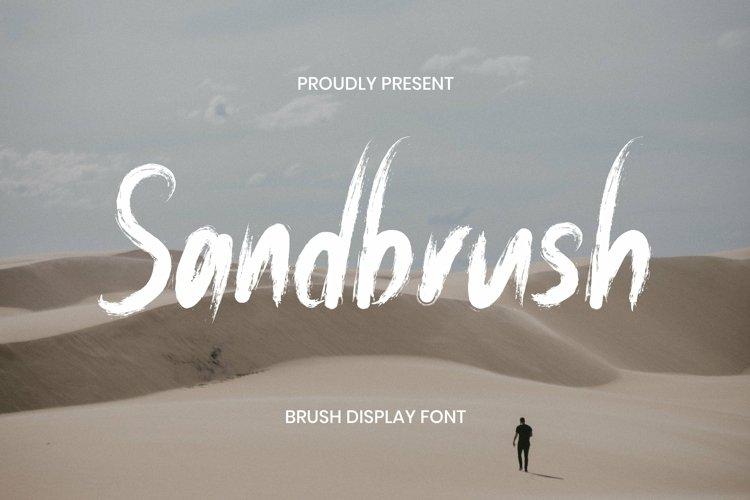 Web Font Sandbrush Font example image 1