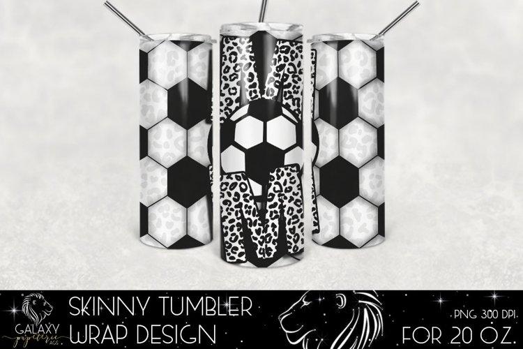 Soccer Mom 20 Oz. Skinny Tumbler Wrap Sublimation Design