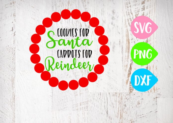 Cookies for Santa Svg, Carrots for Reindeer Svg, Christmas example image 1