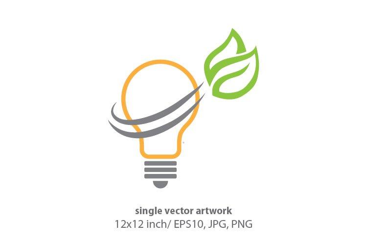 green light bulb, vector example image 1