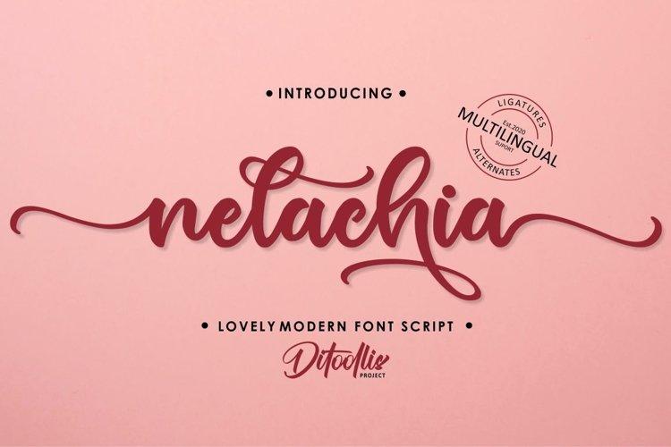 Nelachia - Lovely Font Script example image 1