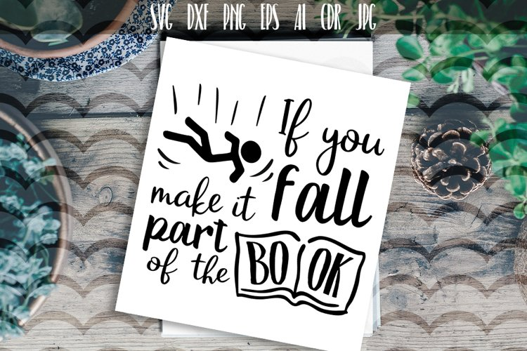 If you fall make it part of the book Vector typography example image 1